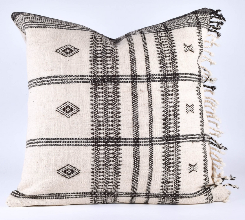 white bhujodi pillow