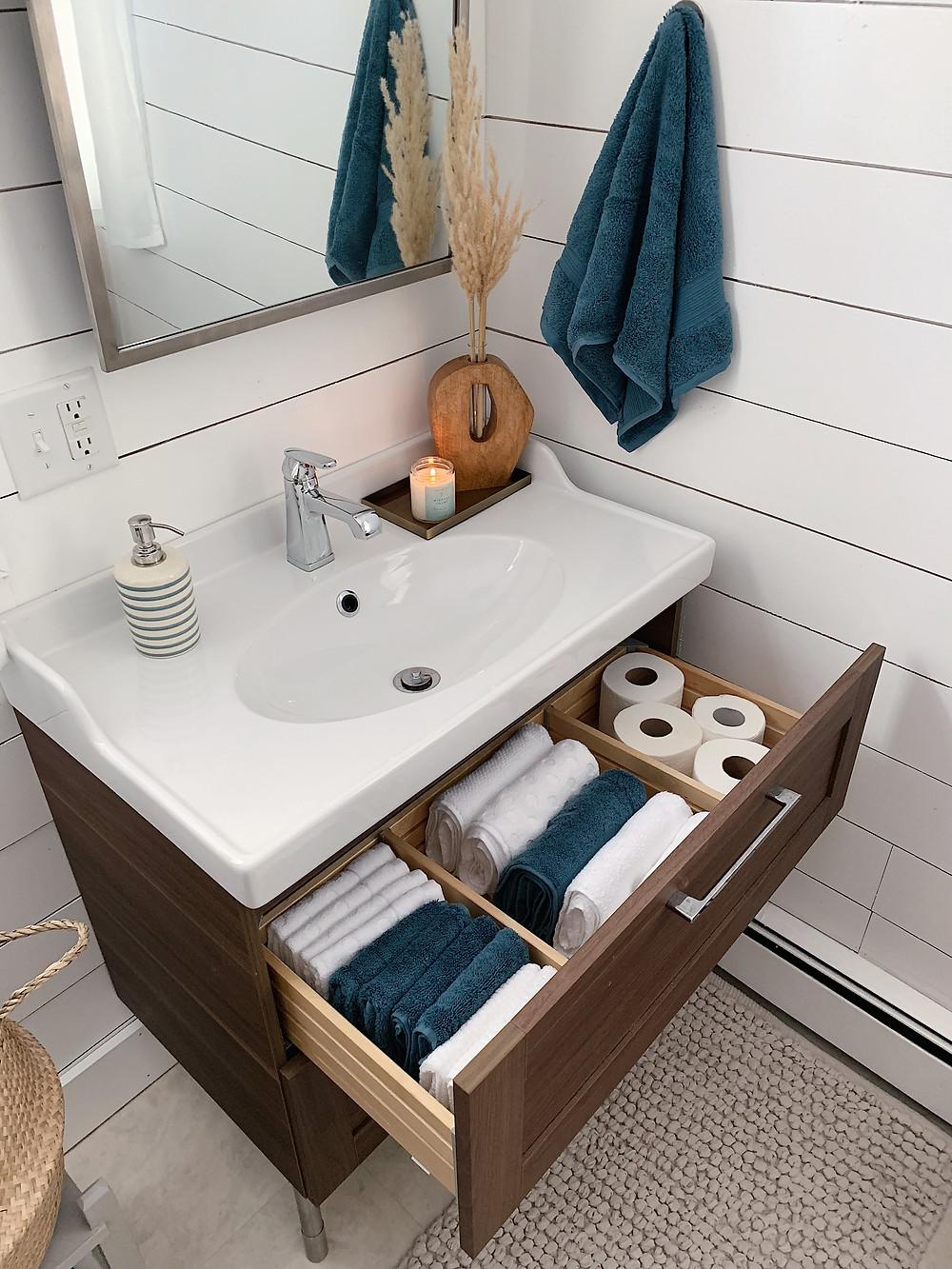 Marie Kondo bathroom drawers