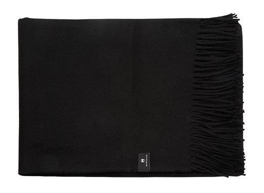 black throw blanket with fringe