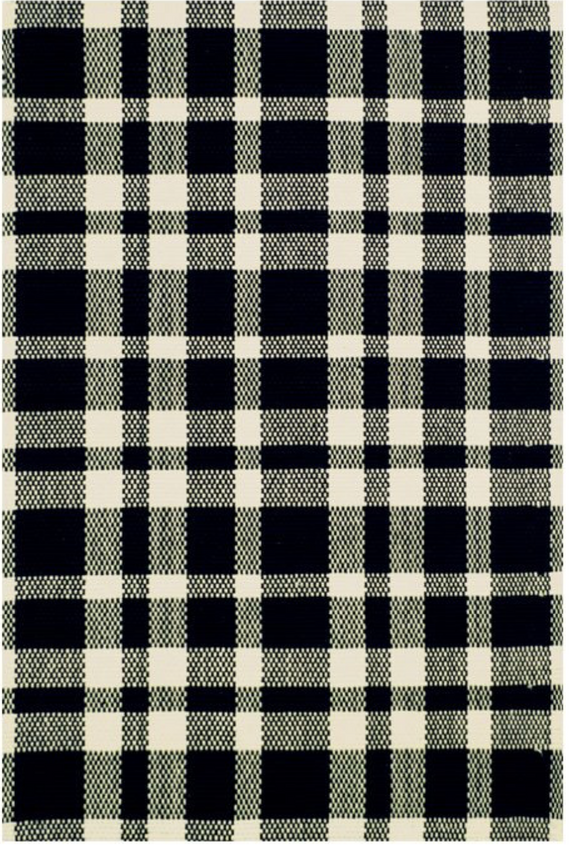 black and white plaid rug round up