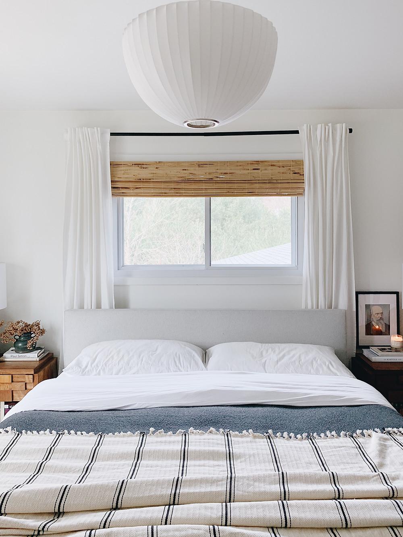 master bedroom, bed under window