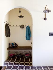 arched mudroom doorway
