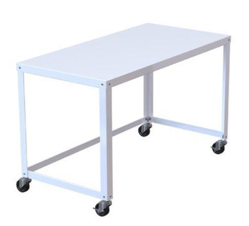 white rolling desk