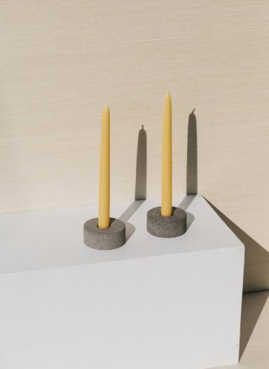 volcanic stone candleholder