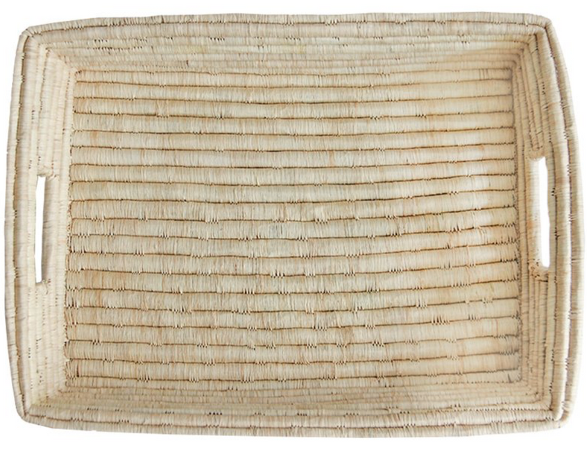 raffia serving tray