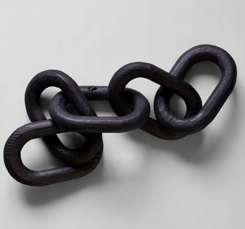 wood link chain