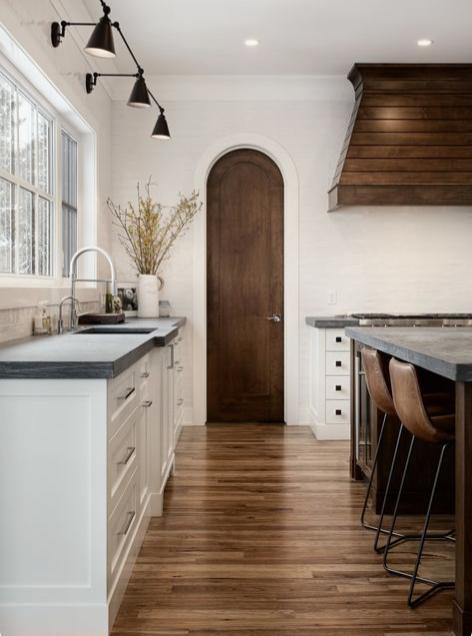 arched wood door