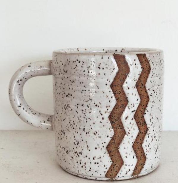 ceramic chevron mug
