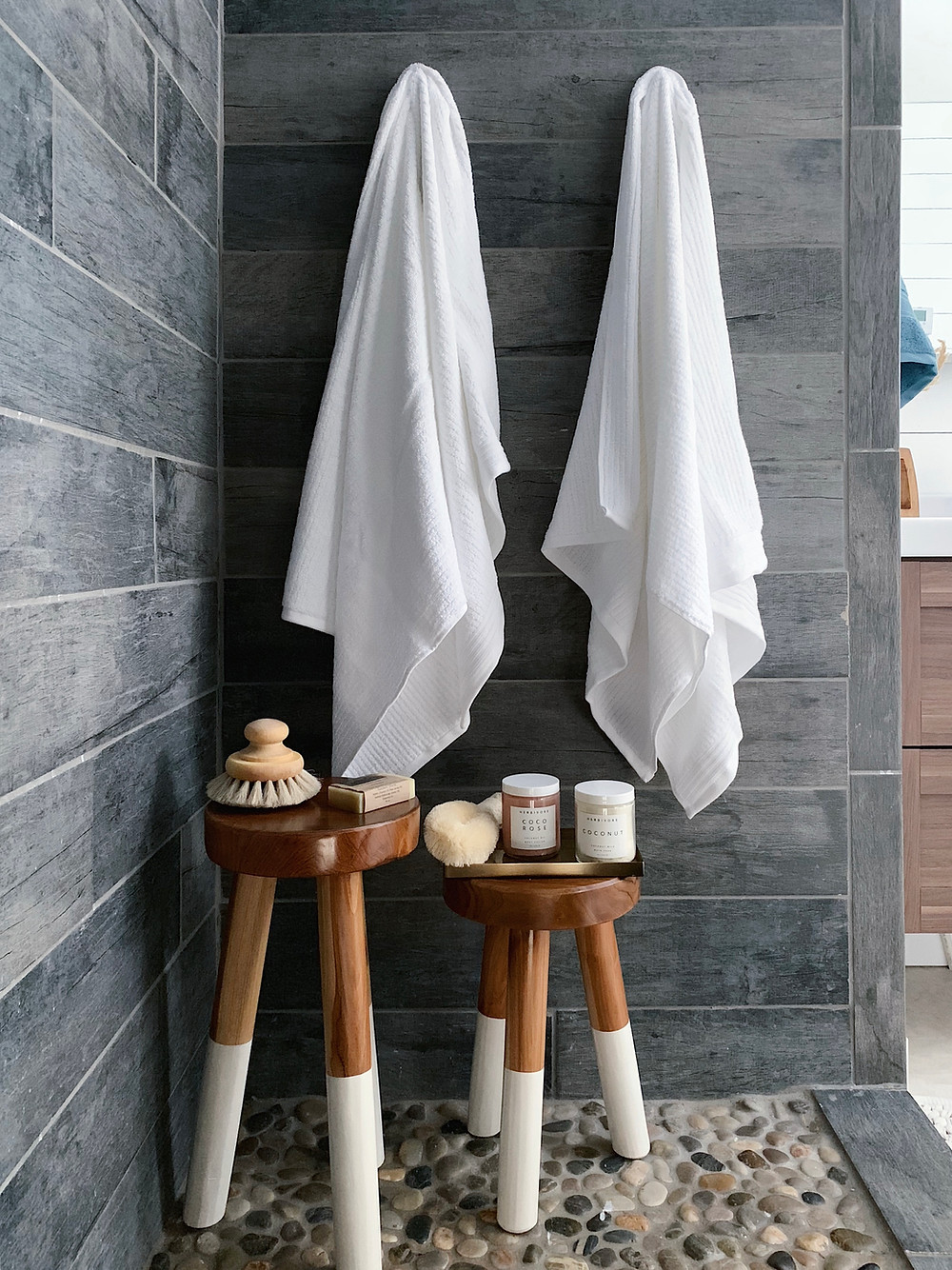 stools in the shower