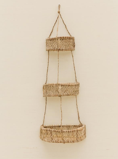 three tiered hanging basket