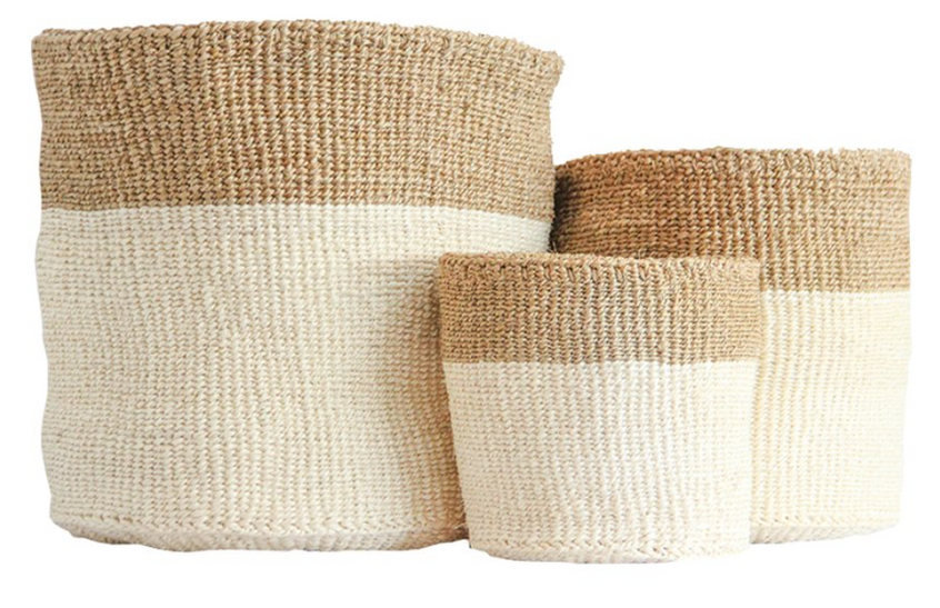 trio of baskets
