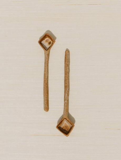 diamond ceramic spoon