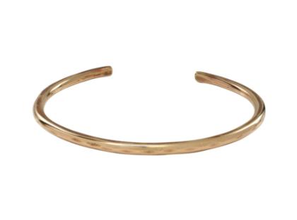 hammered brass cuff bangle bracelet