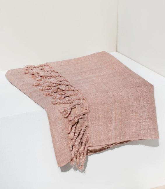 organic blush silk scarf