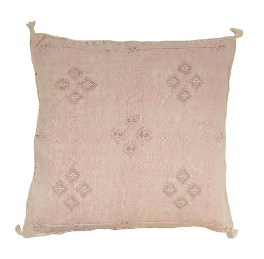 blush cactus silk pillow