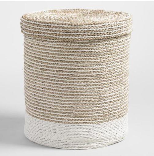 lidded hamper basket