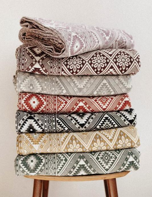 ottoman handwoven blanket