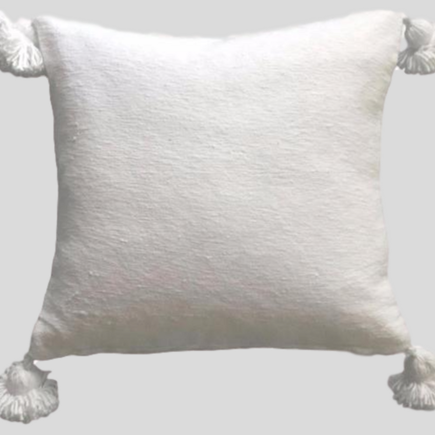 moroccan pom pillow