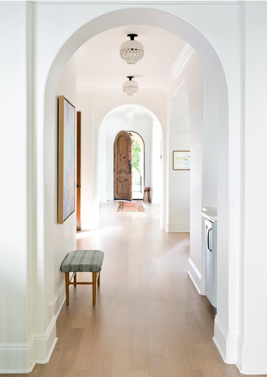 arched hallway, arched front door