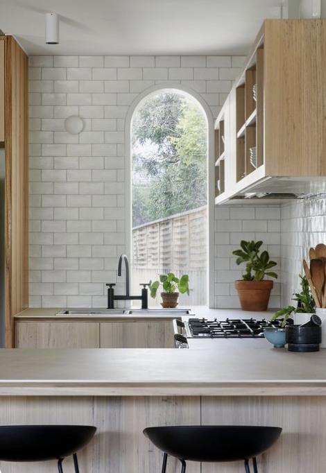 arched kitchen window