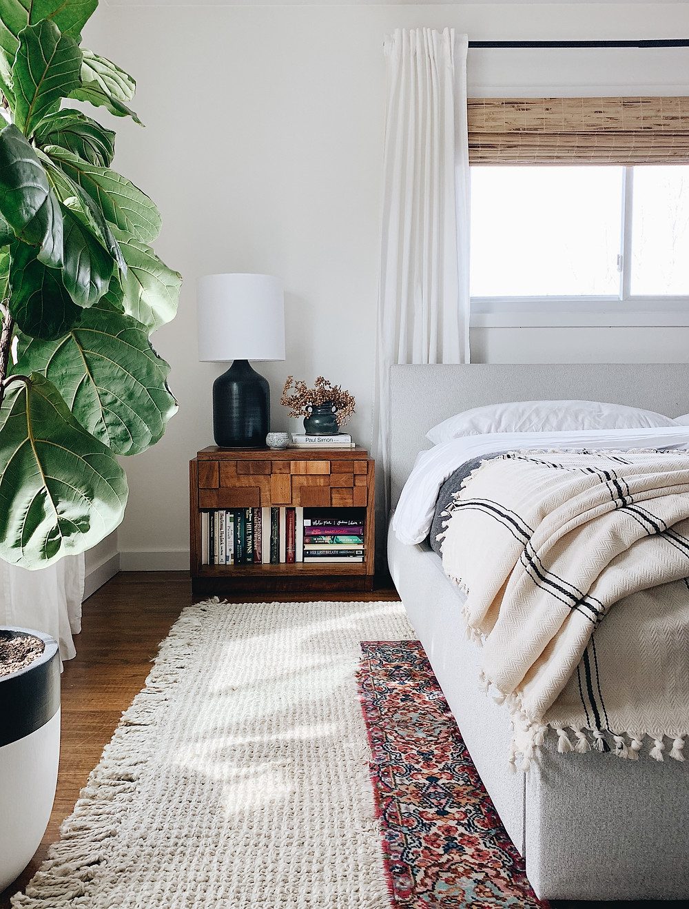lane nightstand, room & board Wyatt bed
