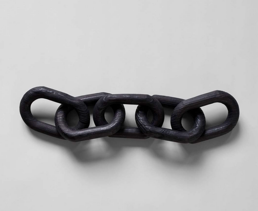 charcoal wood decorative chainlink