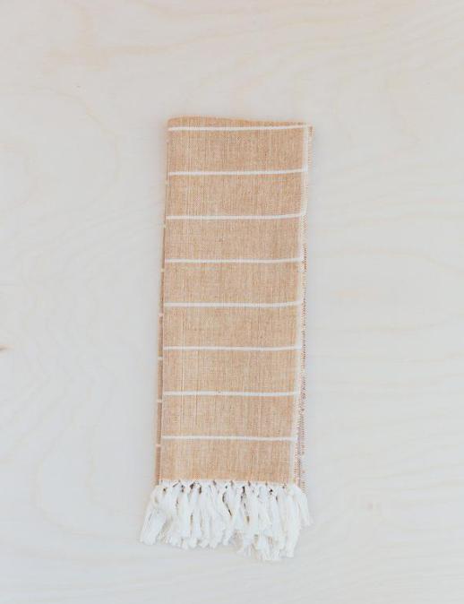 woven hand loomed tea towel