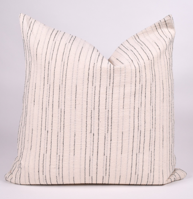 woven neutral thai pillow