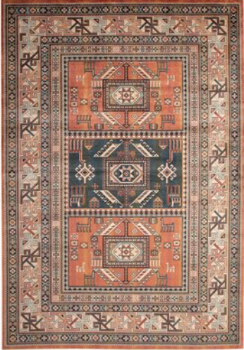 rust colored Persian rug