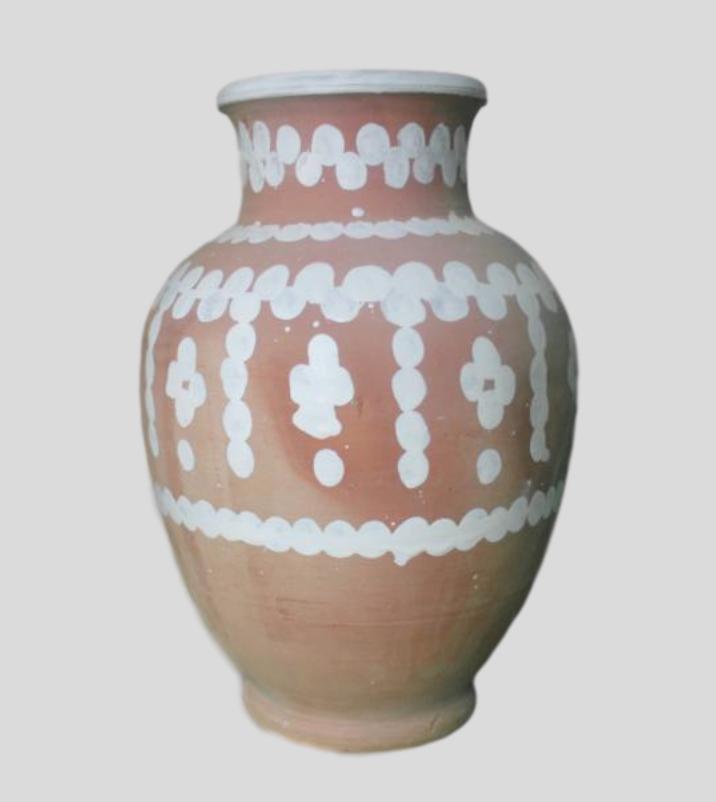 hand painted ceramic jug