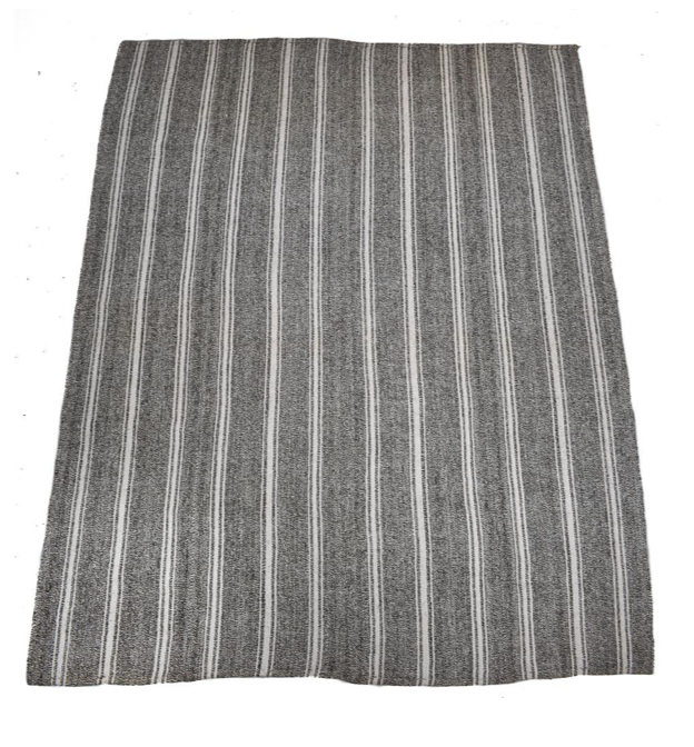 striped wool kilim rug