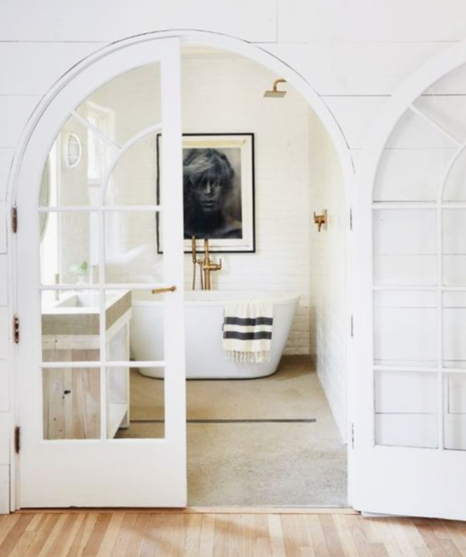 arched bathroom doors
