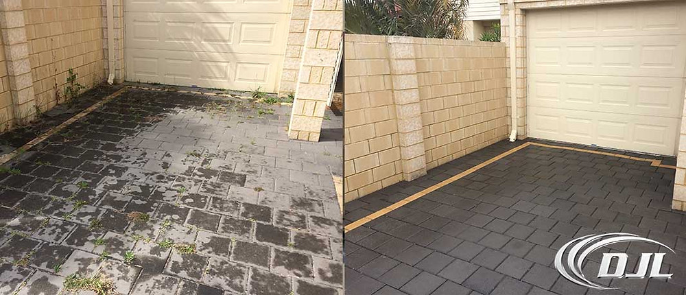 Clean pavers from high pressure cleaning