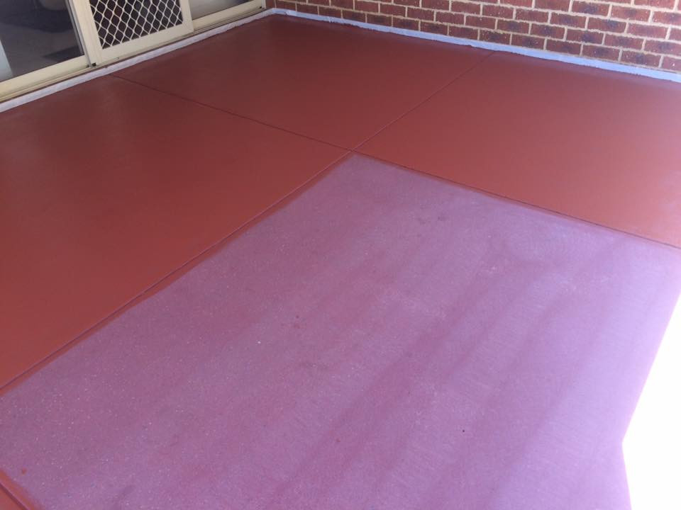 Concrete tinted sealing