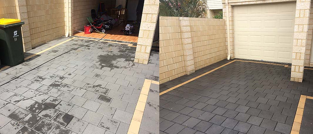 Paver high pressure cleaning