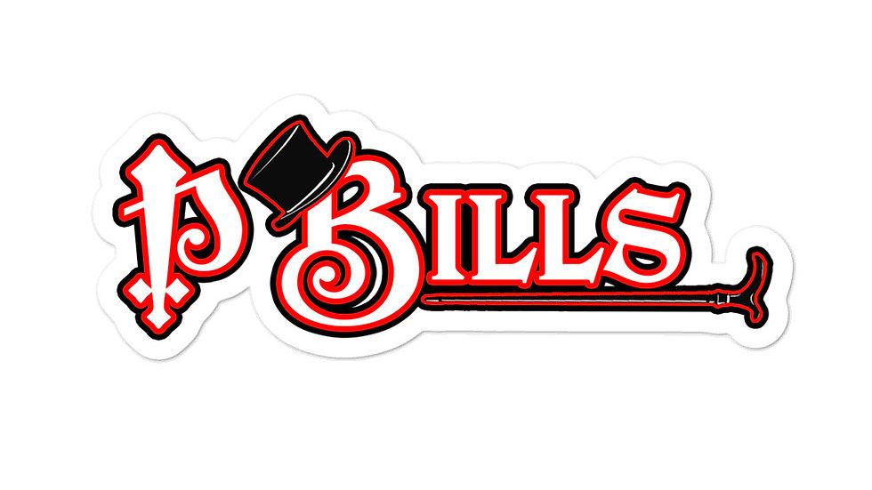 P Bills Top Hat Bubble-free stickers