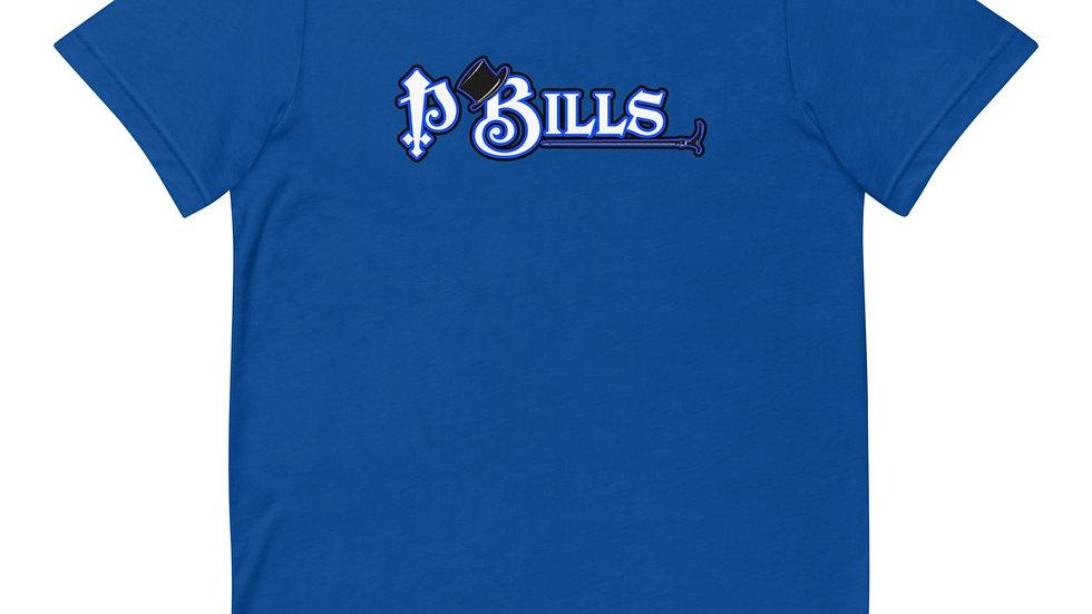 P Bills Blue Top Hat Short-Sleeve T-Shirt