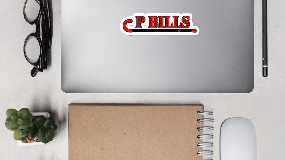 P Bills Bubble-free stickers