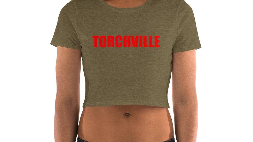 TORCHVILLE RED Women's Crop Tee