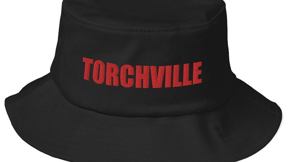 TORCHVILLE RED Old School Bucket Hat