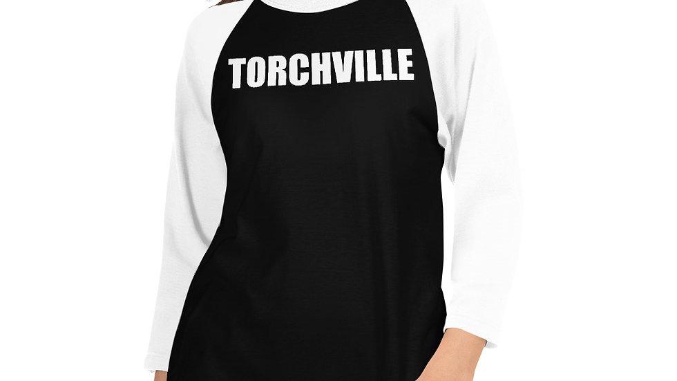 Womans 3/4 sleeve raglan shirt