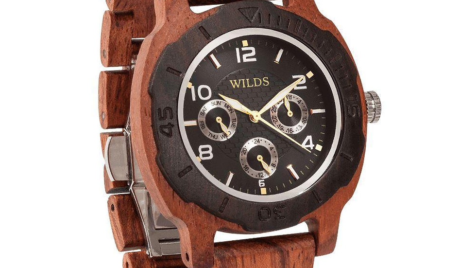 Men's Multi-Function Custom Kosso Wooden Watch - Personalize Your Watch
