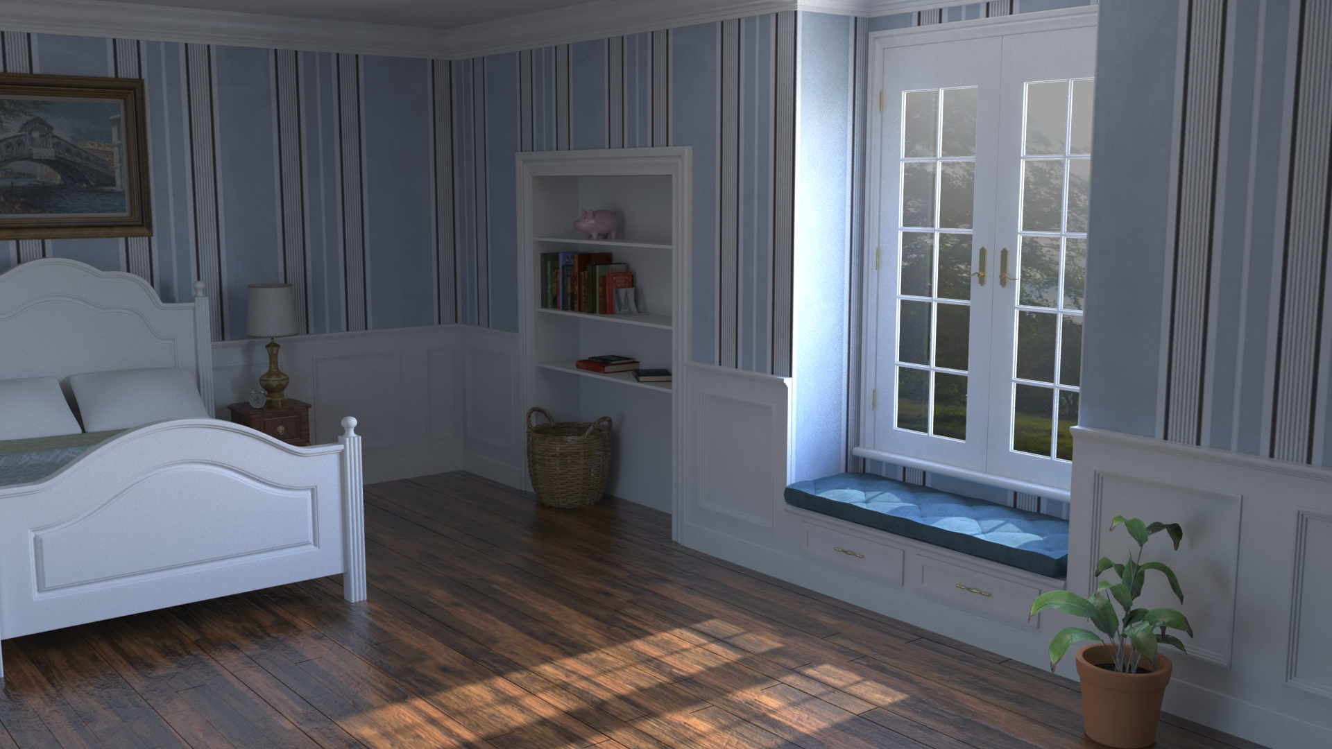 Bedroom Lighting and Texturing