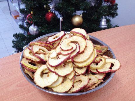 Dehydrated apples