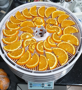 Oranges ready to dry