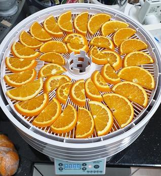 Oranges ready to dry