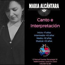 🔊🔊 María Alcántara con más de 20 años