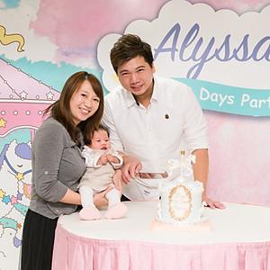 Alyssa's 100 days party