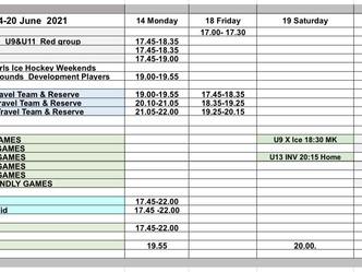 Week of June 14 - schedule update