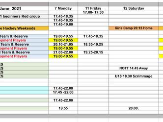 Week of June 07 - schedule update